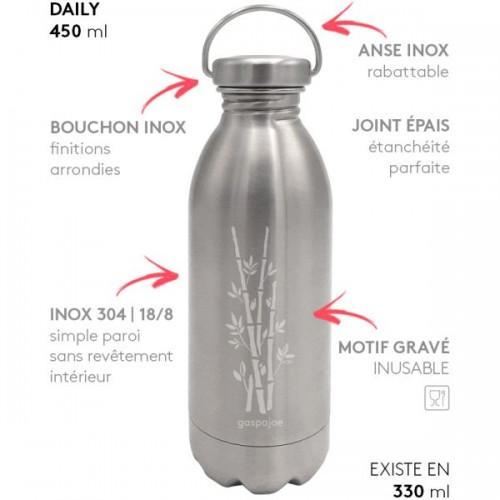 Gaspajoe - Bouteille DAILY 450ml avec bouchon inox