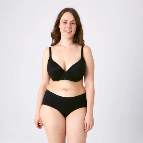 Kora Mikino - Culotte menstruelle modèle Hipster HANNAH noir - EN STOCK
