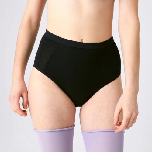 Kora Mikino - Culotte menstruelle modèle taille haute HILDE noire - EN STOCK
