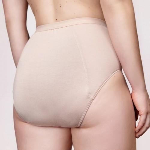 Kora Mikino - Culotte menstruelle modèle taille haute HILDE beige - EN STOCK
