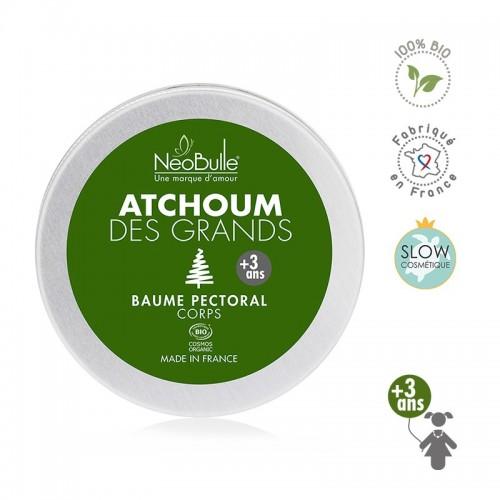 Néobulle - gamme de soin - ATCHOUM - Atchoum des grands, baume pectoral