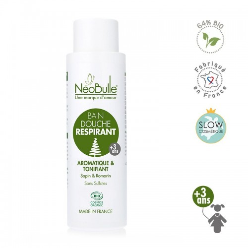 Néobulle - gamme de soin bio - ATCHOUM - Bain douche respirant aromatique