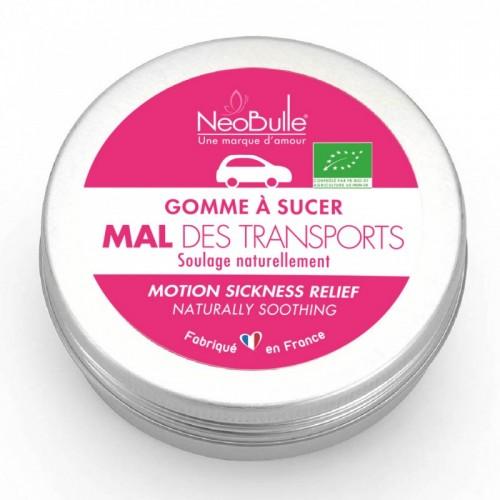 Néobulle - gamme de soin bio - SOS Bobo - Gomme mal des transports