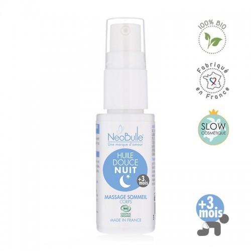 Néobulle - gamme de soin bio - Détente et Dodo -  Huile Douce Nuit, massage sommeil