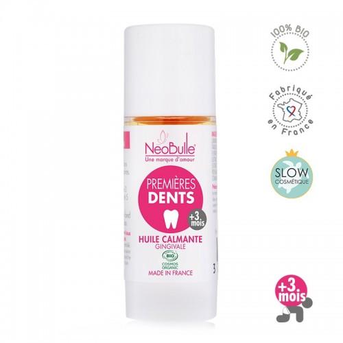 Néobulle - gamme de soin bio - SOS Bobo - Premières Dents, huile calmante gingivale