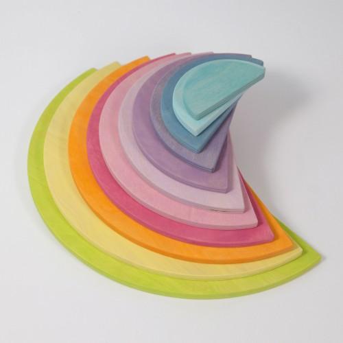 Grimm's - Plateaux demi cercles bois pastel