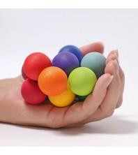 Grimm's - Hochet perles de bois colorées