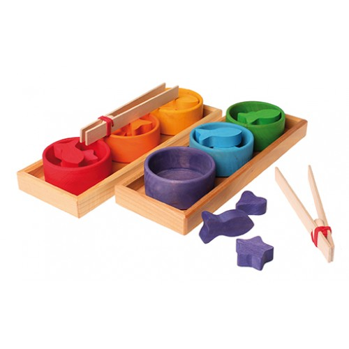 Grimm's - Jeu de tri formes et couleurs 6 bols
