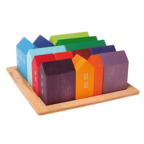 Grimm's - lot de maisons colorées