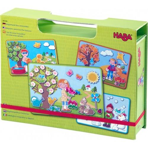 """Haba - Boîte de jeu magnétique """"les 4 saisons"""""""