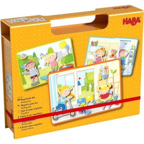 """Haba - Boîte de jeu magnétique """"à la maternelle"""""""