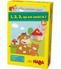 """Haba - Mes premiers jeux """" 1,2,3, qi est caché là ? """""""