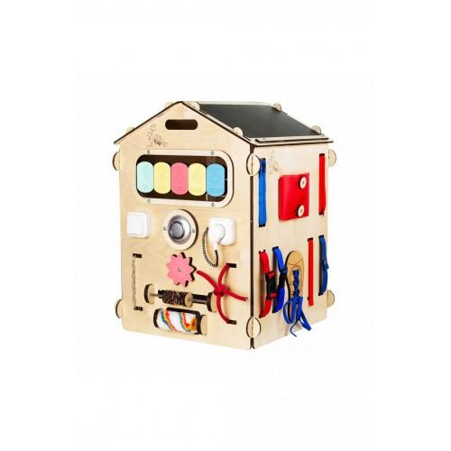 BusyKids - Maison en bois multi-activités