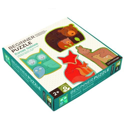 """PetitCollage - Mes premiers Puzzle """"Animaux de la Forêt"""""""
