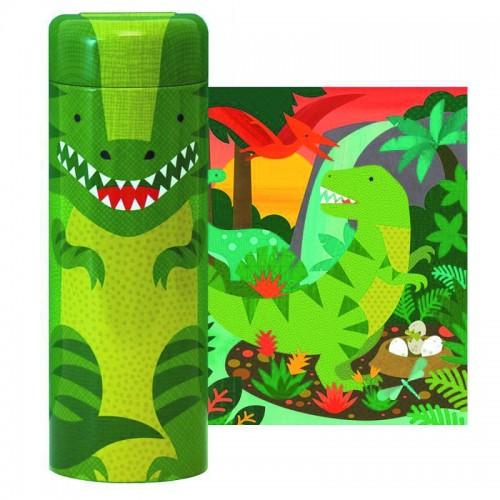PetitCollage - Tirelire avec Puzzle Dinosaure