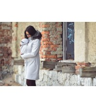 AngelWings - Manteau Softshell avec fourure gris clair