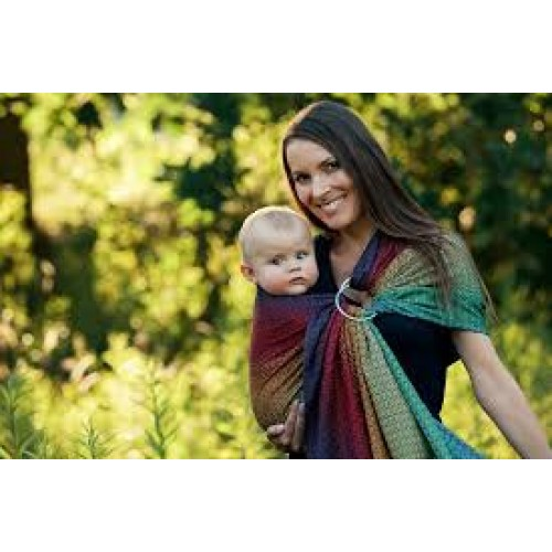 Little Frog - Ring Sling Lovely Black Rainbow