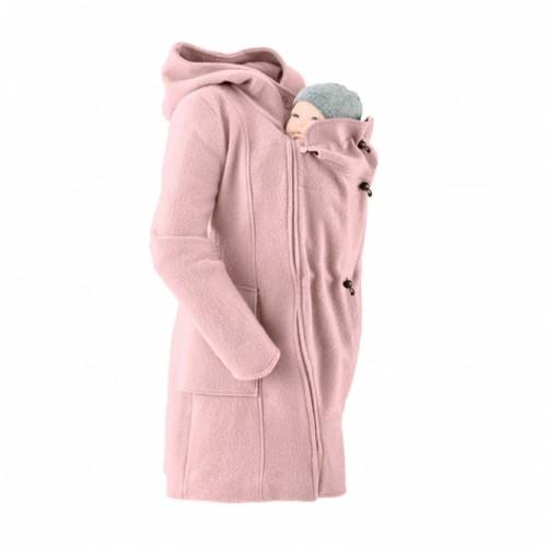 Mamalila - Manteau en laine pour 2 ROSE POUDRE
