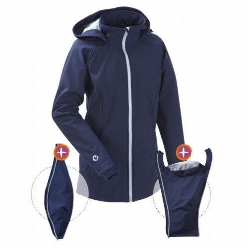 Mamalila - veste softshell navy ice