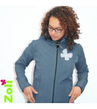"Zoli - Veste softshell ""Week-end"" Bleu Jeans"