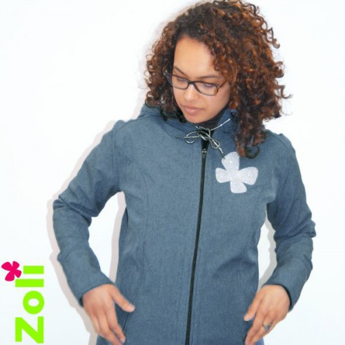"Zoli - Veste softshell ""Week-end"" Bleu Jeans"