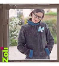 Zoli - Veste de portage polaire PETROLE
