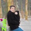 Zoli - Veste de portage polaire homme - modèle Dua Papa Black