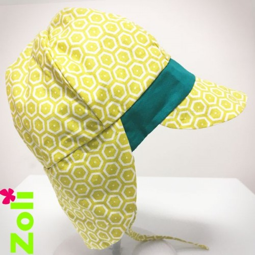Chapeau Zoli bebe/enfant abeille vert