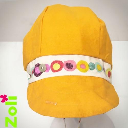 Chapeau Zoli bebe/enfant confetti ocre